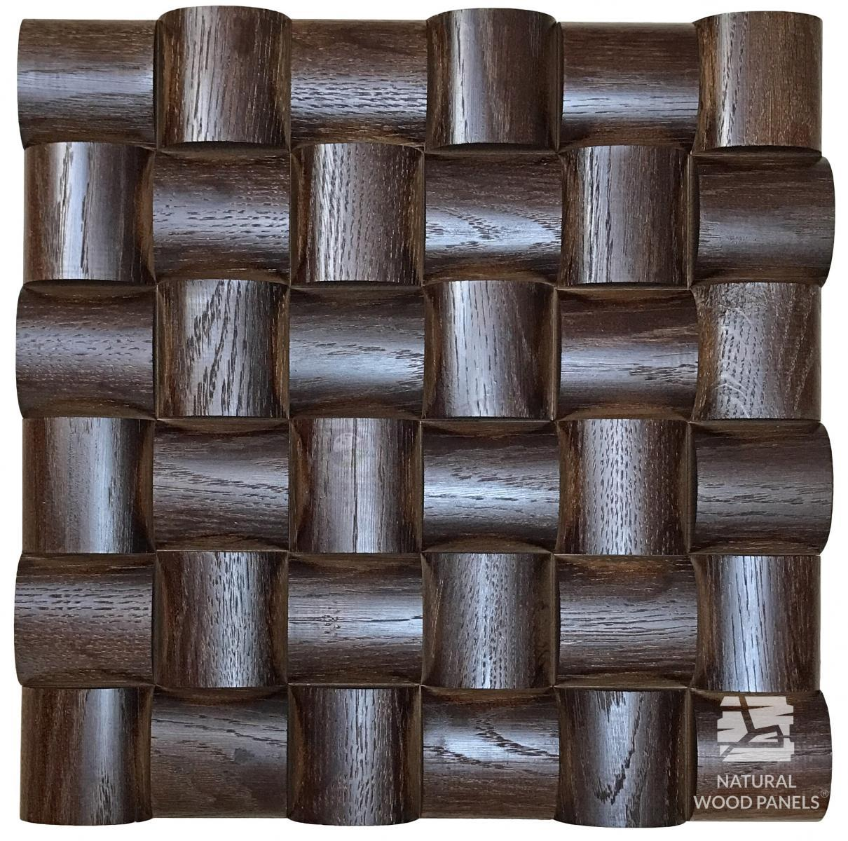 Panele Wave series – Dąb venge *105  Natural Wood Panels