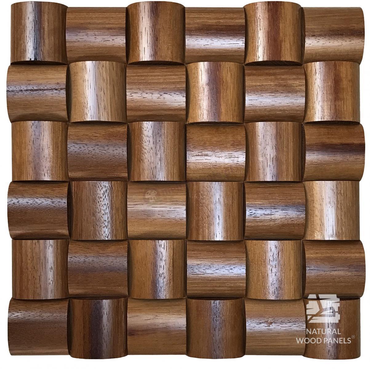 Panele Wave series – Merbau *101  Natural Wood Panels