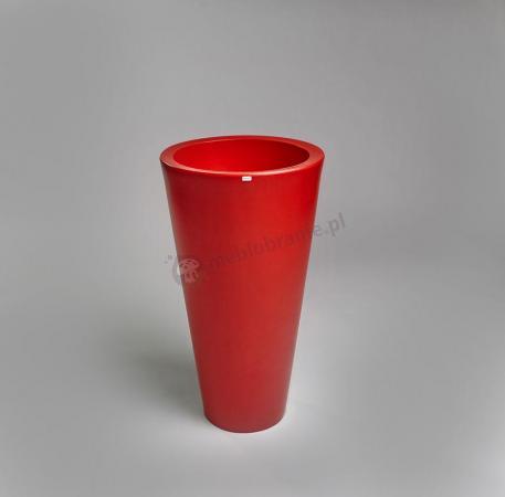 Czerwona donica tarasowa Della - 75cm - rubinowa czerwień