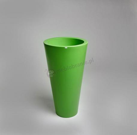 Wysoka donica tarasowa Della - 75cm - soczysta limonka