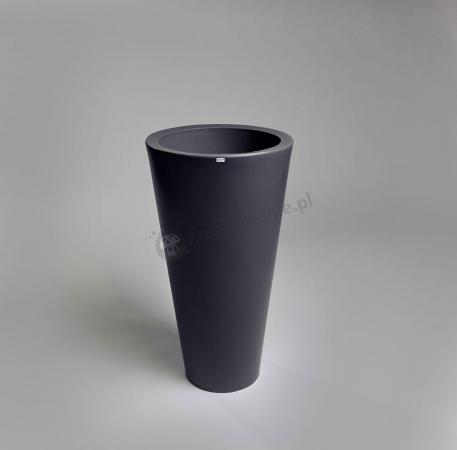 Ciemna donica ogrodowa Della - 75cm - stylowy antracyt