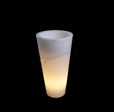 Donica Della podświetlana - 75cm - światło ciepłe