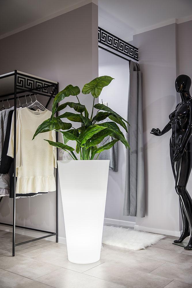 Donica Della podświetlana biała