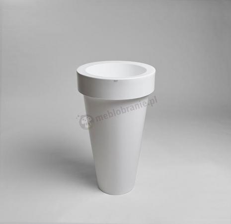 Donica Pons - 75cm - krystaliczna biel