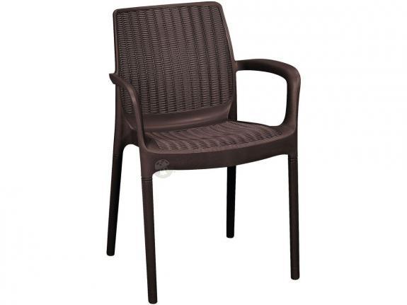 Krzesło ogrodowe Bali Mono - brązowe