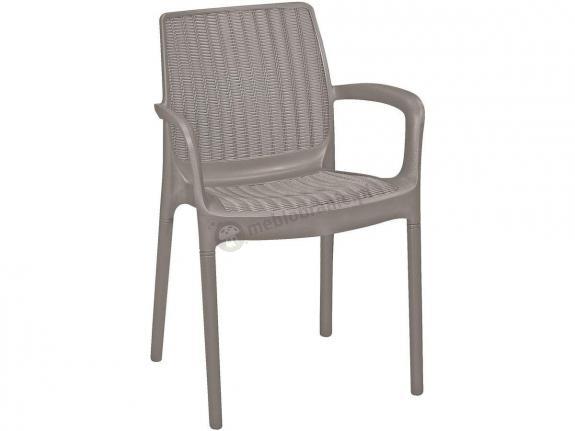Krzesło ogrodowe Bali Mono - cappucino