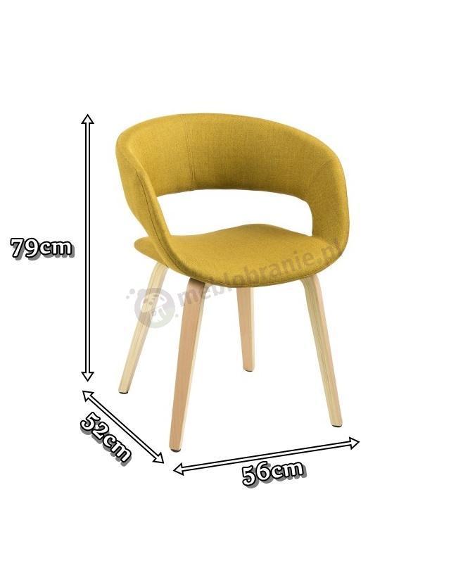 Actona Grace wygodne krzesło do jadalni - wymiary