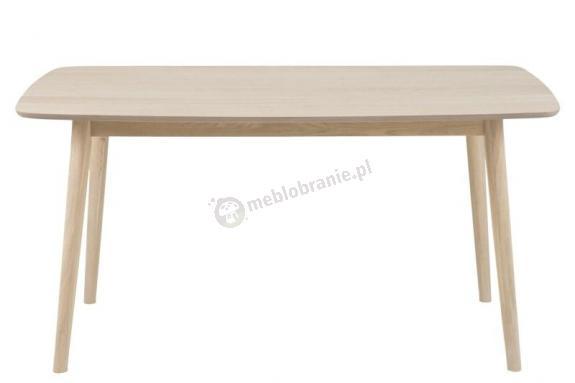 Actona Nagano stół dębowy nowoczesny bielony