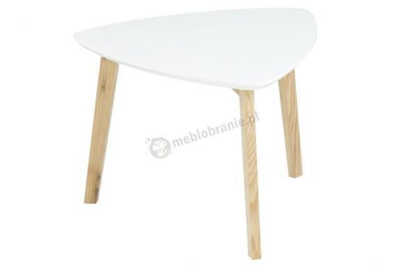 Actona Vitis stolik pod lampkę design skandynawski biały