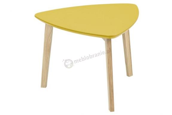 Actona Vitis stolik pod lampkę design skandynawski żółty curry