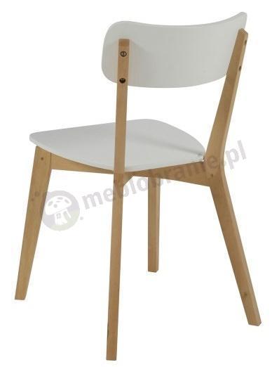 Actona Raven krzesło drewniane białe skandynawskie