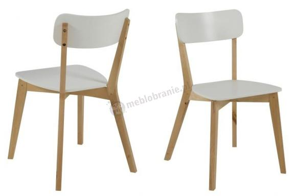 Actona Raven Krzesło Drewniane Styl Skandynawski Białe