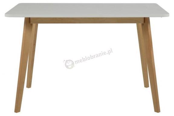 Actona Raven stół z drewnianymi nogami biały