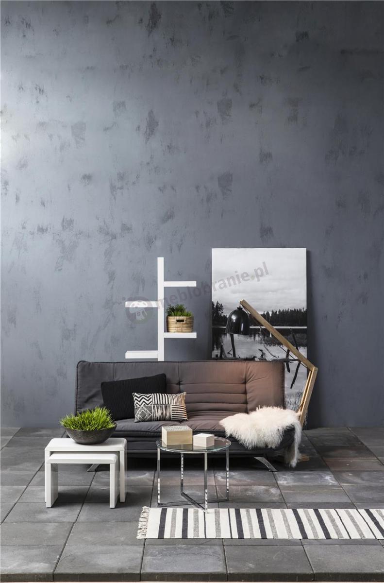 Aranżacja wnętrza ciemnoszara rozkładana sofa Faith Actona