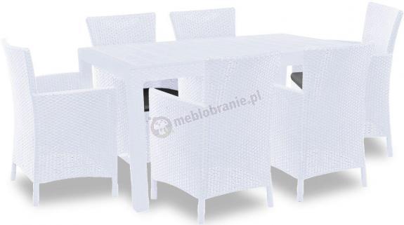 Zestaw ogrodowy plastikowy Melody 6Y biały