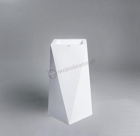 Donica Nevis - 75cm - krystaliczna biel