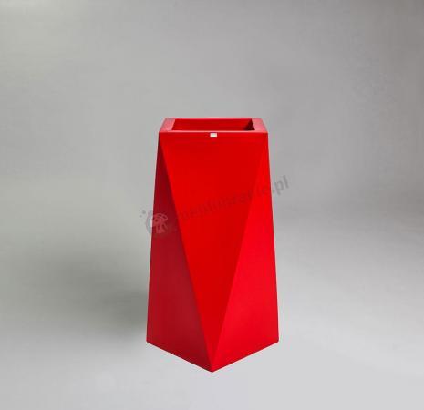 Donica Nevis - 75cm - rubinowa czerwień