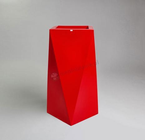 Donica Nevis - 90cm - rubinowa czerwień