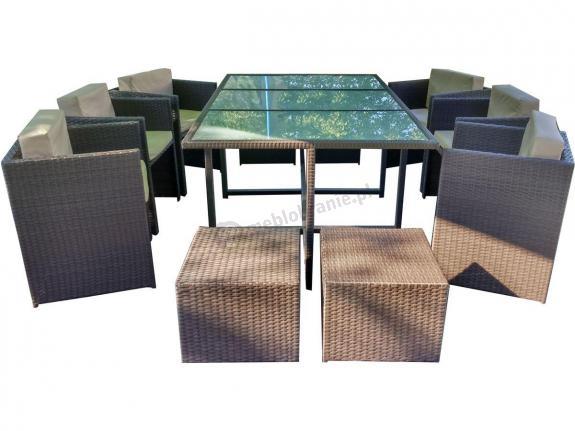Cristallo Grande zestaw mebli stołowych z technorattanu