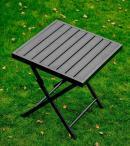 Czarny stolik ogrodowy