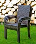 Sztaplowane krzesła technorattanowe Piccolo