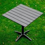Czarny stolik z blatem pollywood