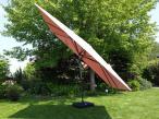 Regulowany parasol ogrodowy kwadratowy Sofia 3D