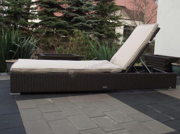 Prostokątny leżak ogrodowy technorattan Lugo
