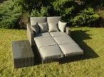 Leżanka łóżko ogrodowe technorattan Olimpia