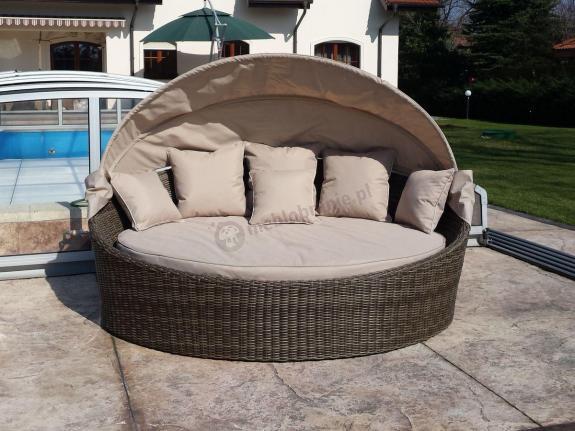 Łóżko ogrodowe z daszkiem Rawenna 2