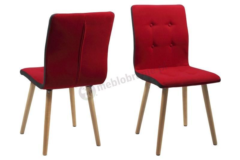 Actona Frida krzesło designerskie w kolorze czerwonym