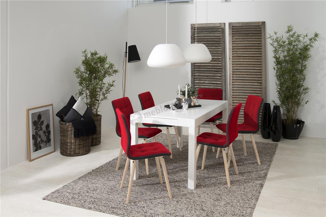 Actona Frida krzesło designerskie do jadalni czerwone