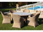 Meble stołowe technorattan z blatem imitującym drewno Olimp P 150