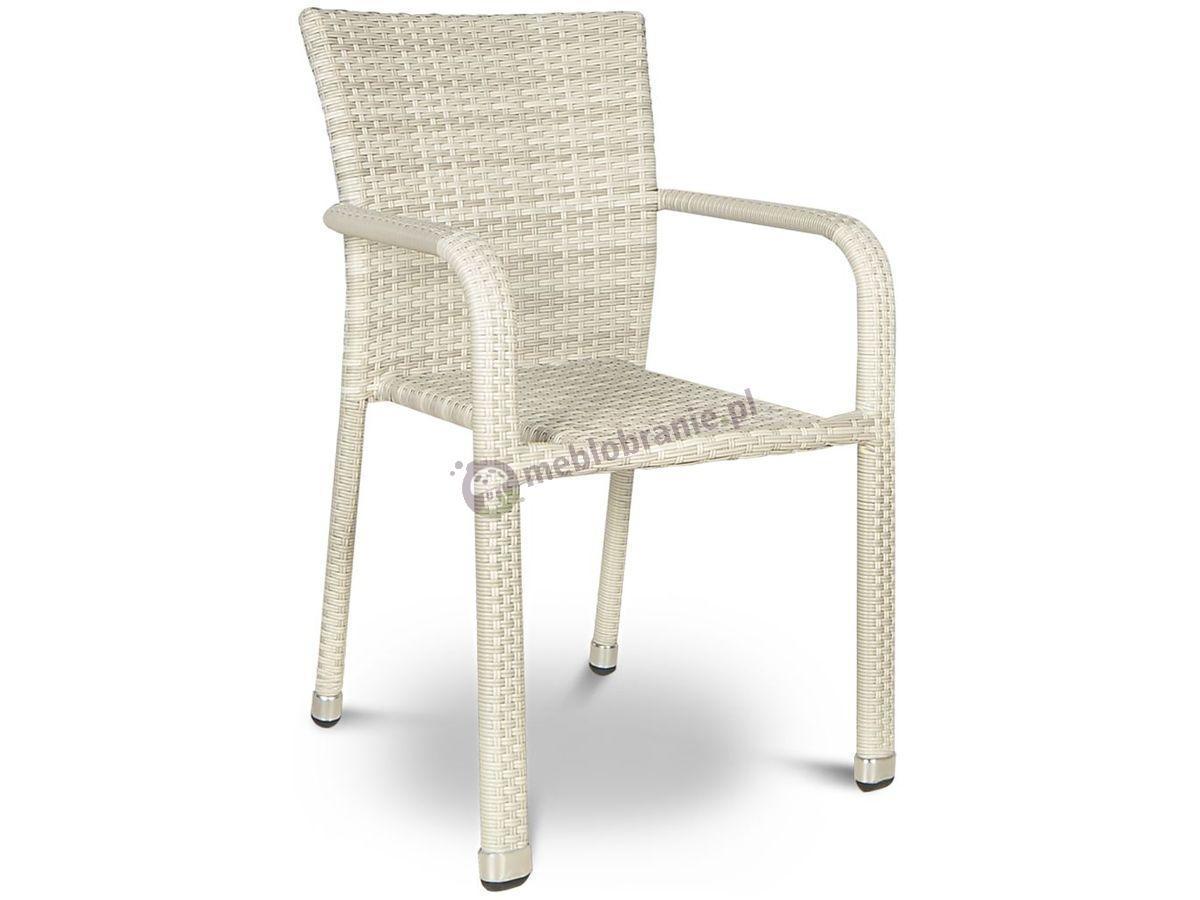 Negros Modern White krzesło z technorattanu