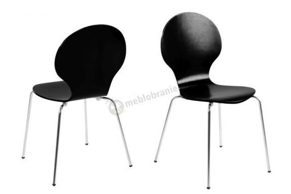 Actona Marcus krzesło z chromowanymi nogami czarne