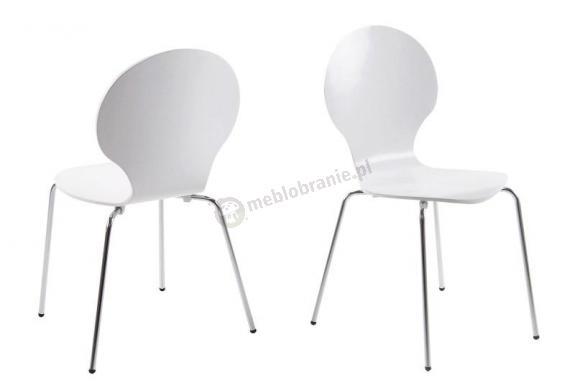 Actona Marcus krzesło z metalowymi nogami białe