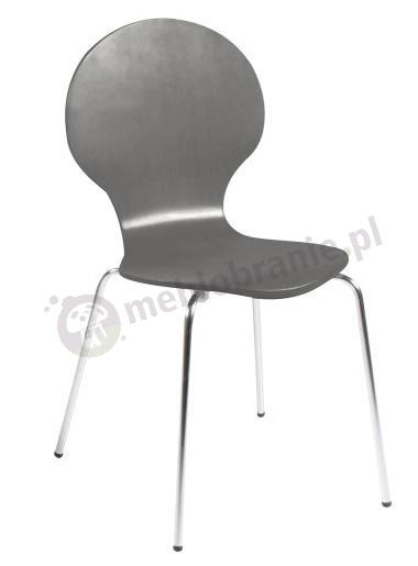 Actona Marcus krzesło z metalowymi nogami szare - aranżacja