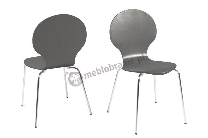 Actona Marcus krzesło z chromowanymi nogami szare