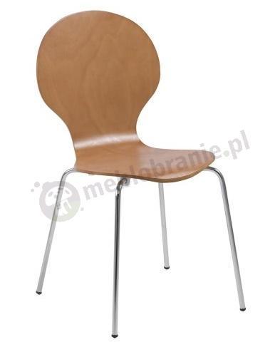 Actona Marcus krzesło z metalowymi nogami buk