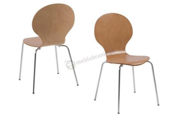 Actona Marcus krzesło z chromowanymi nogami buk