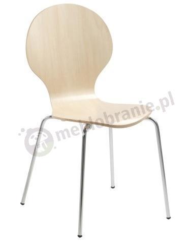 Actona Marcus krzesło z metalowymi nogami klon