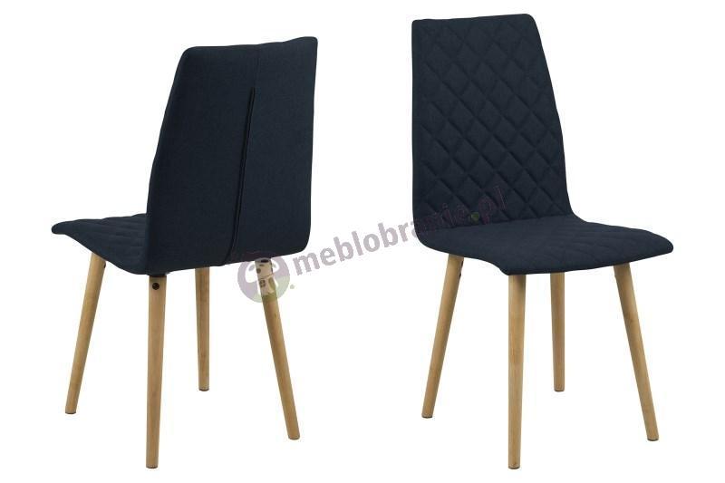 Actona Abna krzesło skandynawskie ciemnoniebieskie