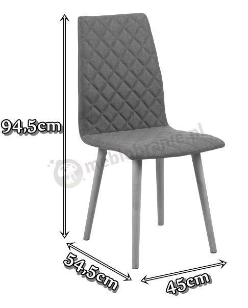 Actona Abna krzesło skandynawskie - wymiary