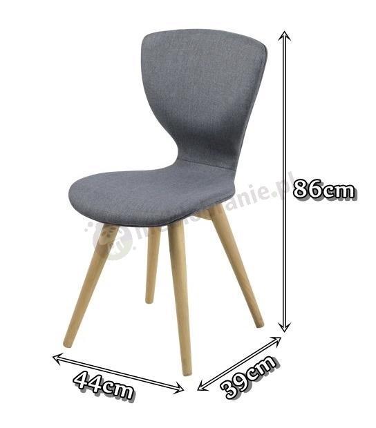Actona Gongli tapicerowane krzesło ciemnoszare - wymiary