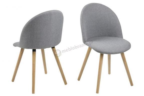 Actona Manley krzesło skandynawskie jasnoszare