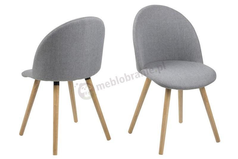 Actona Manley tapicerowane krzesło na drewnianych nogach