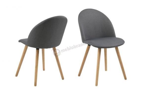 Actona Manley krzesło skandynawskie ciemnoszare