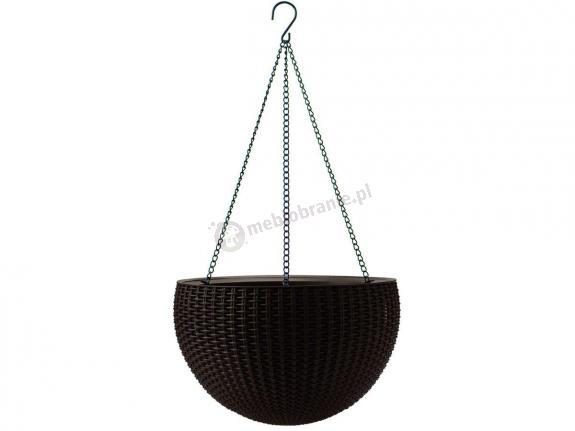 Keter Hanging Sphere Planter Doniczka Okrągła Wisząca Brąz