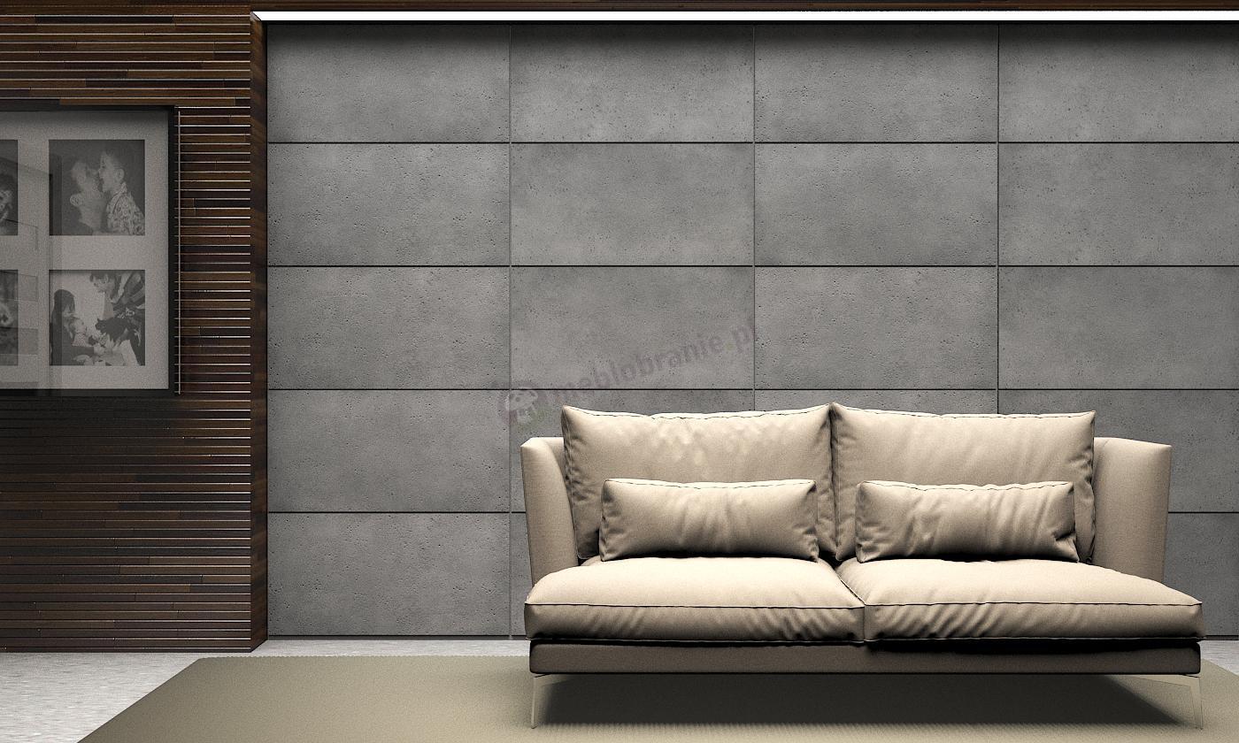 Wariant aranżacji Paneli ZICARO Tectra imitacja betonu