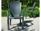 Krzesło ogrodowe grafitowe Minnesota